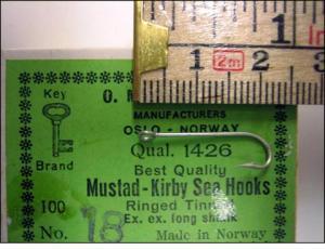 Mustad 1426 No.18 Kirby