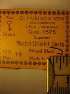 Mustad 1575 No.19 Limerick