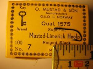 Mustad 1575 No.7 Limerick