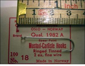 Mustad 1982A No 18 Dutch Carlisle