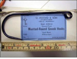 Mustad 2282A No.2 Round Snoek Grd Point