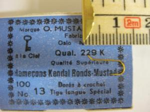 Mustad 229K No.13 Kendal Round