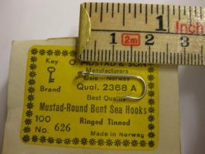 Mustad 2368A No.8(626) Round Bent Sea