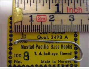 Mustad 3498A No.10 Pacific Bass
