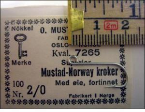 Mustad 7265 No.2/0 Norway