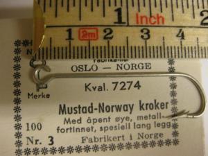 Mustad 7274 No.3 Norway