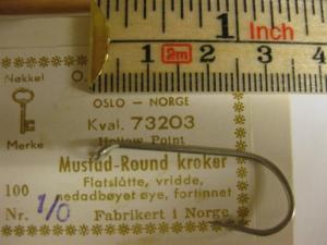 Mustad 73203 No.1/0 Round