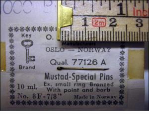 Mustad 77126A No.8 Special Pins