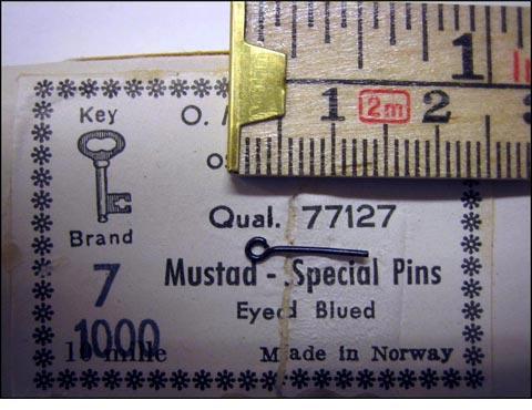 Mustad 77127 No.7 Special Pins