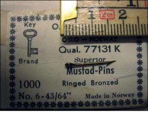 Mustad 77131K No.6 Pins