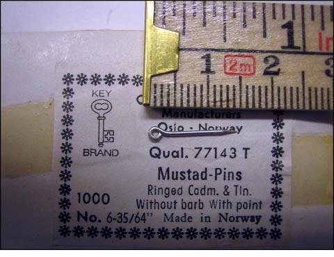 Mustad 77143T No.6 Pins