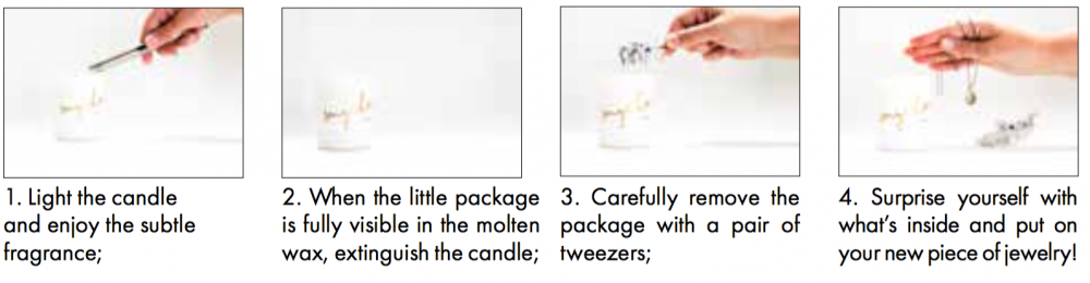 Klinta Smycka Scented Candle and Surprise Jewellery Prosecco /& Vanilla