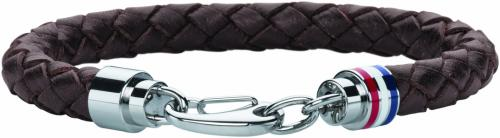 Tommy Hilfiger Mens Casual Brown Leather Bracelet 2700530