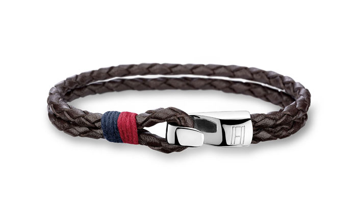 Tommy Hilfiger Double Row Brown Leather Bracelet 2700671 - Armband herr, läder