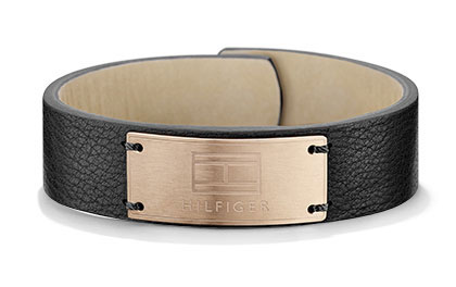 Tommy Hilfiger Black Wide Leather Bracelet 2700674