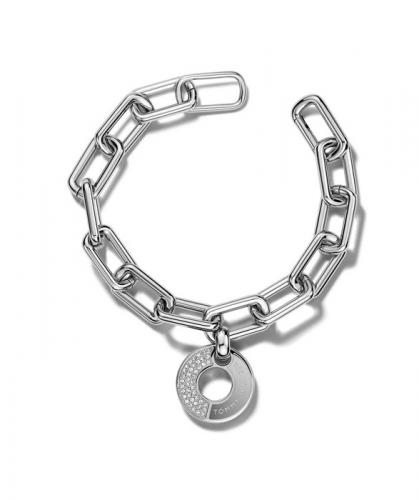 Tommy Hilfiger Grommet Bracelet with Pave Cryst 2700703