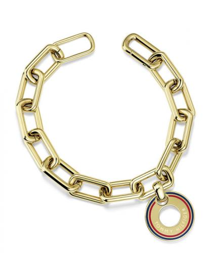 Tommy Hilfiger Grommet Bracelet with Pave Cryst 2700704