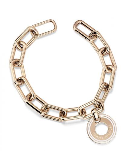 Tommy Hilfiger Grommet Bracelet with Pave Cryst 2700705