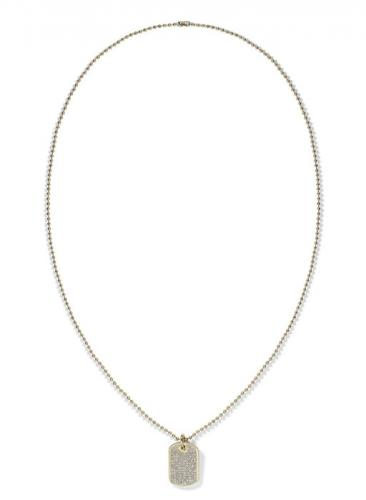 Tommy Hilfiger Mini Pave Dog Necklace 2700748