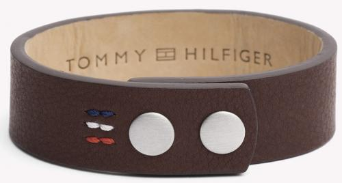 Tommy Hilfiger Brown Wide Leather Bracelet 2700673