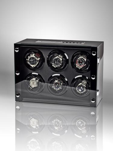 Rothenschild - svart watch winder för 6 klockor - touchdisplay
