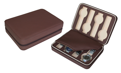 Traveling case for 8 watches