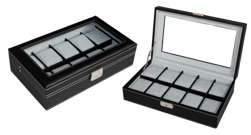 Watch box for 10 watches - extra size pillow