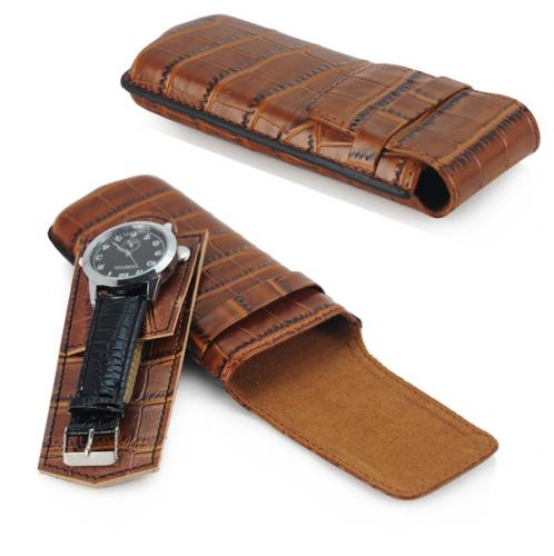 Genuine leather case for 1 watch / sunglasses