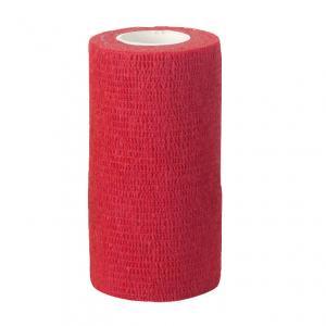 VETlastic Bandage 10 cm. 4.5 m  Röd 18 rullar