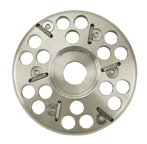 Klövfrässkiva, aluminium 6 cut, 120 mm