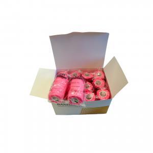 Bostec Bandage 10 cm. 4.5 m Rosa, 12 rullar