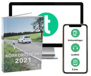 Teoripaket 2021: Körkortsboken, körkortsfrågor, e-bok & ljudbok