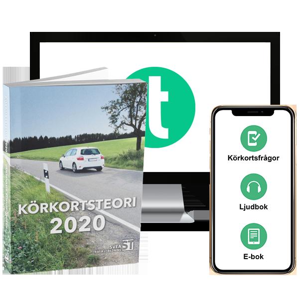 Teoripaket 2020: Körkortsboken, körkortsfrågor, e-bok & ljudbok