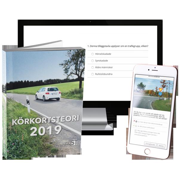 Teoripaket 2019: Körkortsbok, Körkortsfrågor & Teorikurs