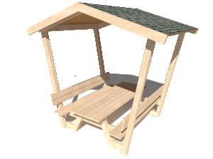 Bänkbord med tak