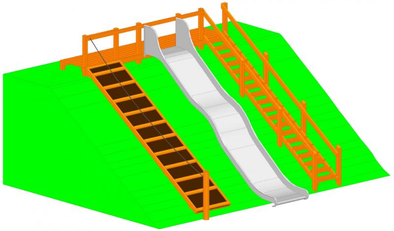 Tillgänglig Rutsch modell 3