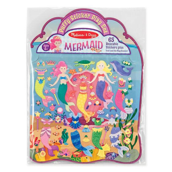 Puffy stickers, Mermaid