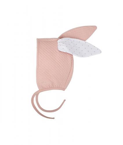 Jacquard bunny hat - Mauve