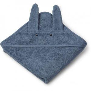 Albert hooded towel - Rabbit blue wave