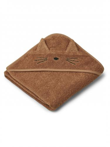 Albert hooded towel -  Cat terracotta