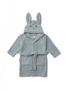 Lily bathrobe - Rabbit blue sea