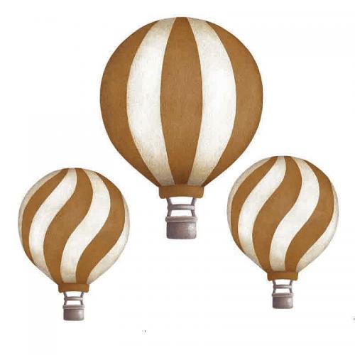 Stickstay - dark mustard vintage balloons set