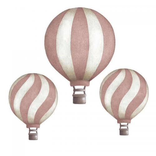Stickstay - dark pink vintage balloons set