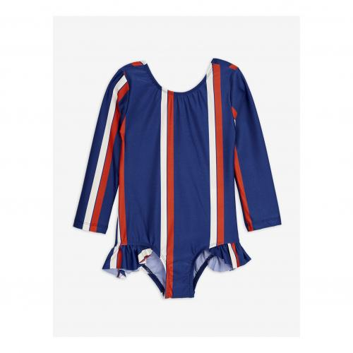Stripe LS swimsuit