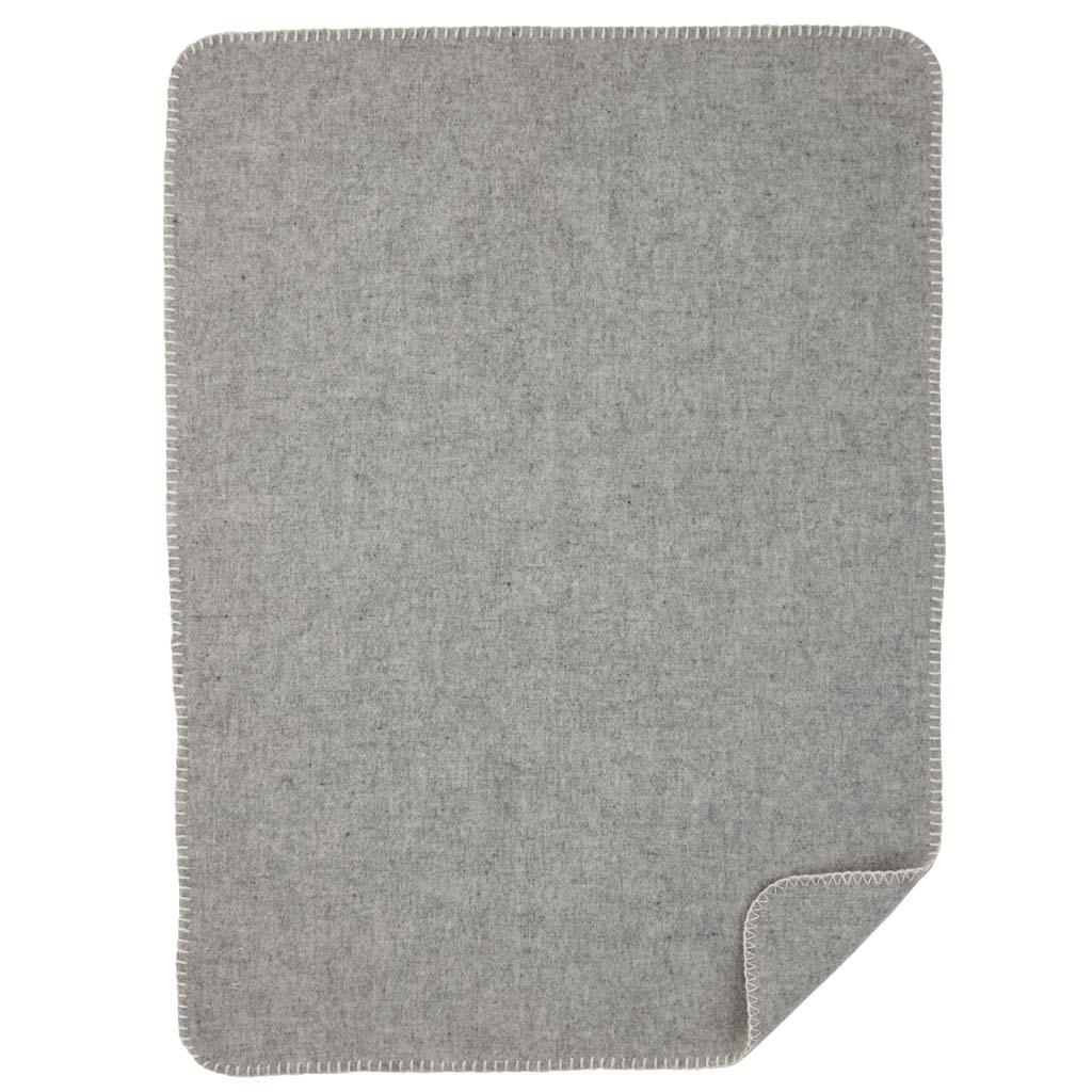 Soft wool baby ljusgrå filt