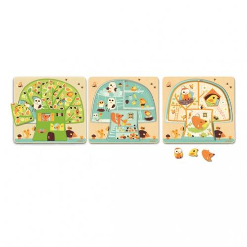 3 layers puzzle, tree house