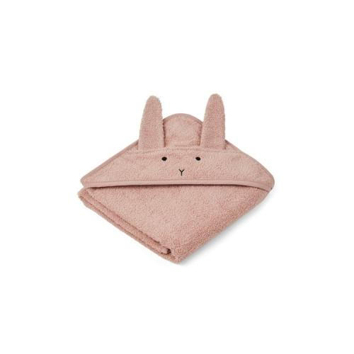 Albert hooded towel - Rabbit rose