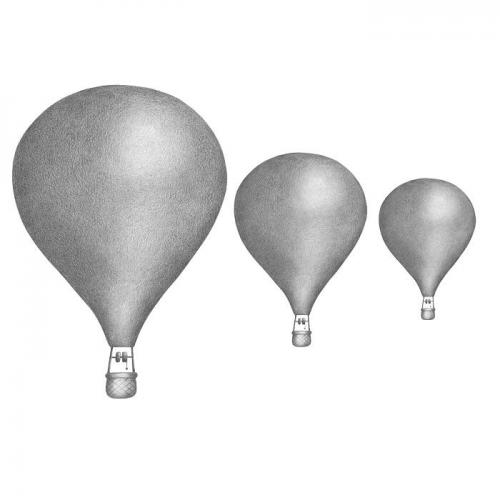 Stickstay - Graphite grey balloons set 3