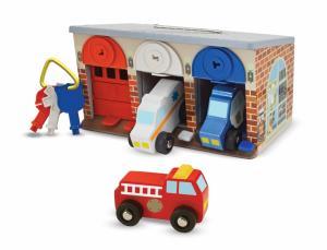 Garage med lås och Räddningsfordon
