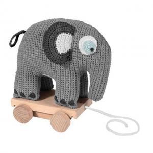 Dragdjur, elefanten Fanto - klassisk grå
